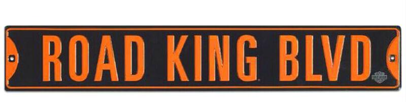 """Harley-Davidson Embossed 36"""" x 6"""" Road King Blvd Tin Street Sign 2012171"""