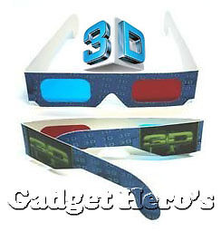 6 Pcs 3D Paper Ana-Glyph Glasses Red/Blue. New Printed & Coated. AnaGlyph