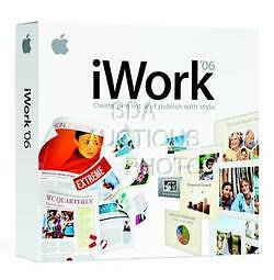 iWORK 06 FOR MAC KEYNOTE 3 PAGES 2 iWORKS VER 2.0.1 NEW SEALED SOFTWARE '06