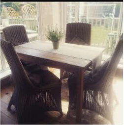 Barker and Stonehouse 4x Wicker Chairs