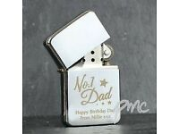 Personalised No.1 Silver Lighter