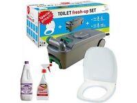 Motorhome Caravan Cassette Toilet Tank C400 Fresh Up Set BRAND NEW STOCK CLEARANCE