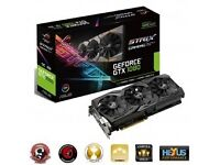 GeForce GTX 1080 DirectCU III Strix OC Gaming Aura RGB 8192MB GDDR5X PCI-Express Graphics Card