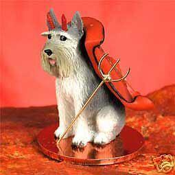 GIANT SCHNAUZER Gray Devil Dog Tiny One Figurine Statue NEW