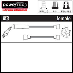 PowerTec-Cables-De-Encendido-Ht-VAUXHALL-VICTOR-FD-FE-1967-1978