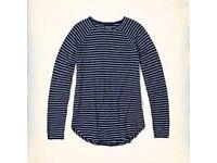 NEW Women's Hollister Long Sleeve Stripe Top XL
