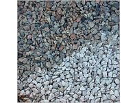 20 mm silver/ pink granite garden and driveway chips/ stones/ gravel