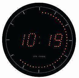 Led digital wall clock ebay Digital led wall clock