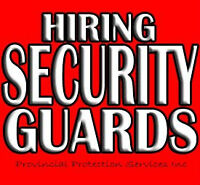 Hiring Security Gauards In Your Area!!