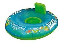 BABY SWIM SUPPORT RING AND SEAT 3-12 MONTHS ZOGGS TRAINER SEAT £8