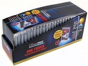 Ultra Pro .... 130 POINT ... ONE-TOUCH card holders ... BOX (25)