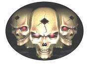 Skull Iron on Patch