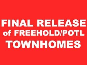 Freehold Townhomes Sale Brampton.VIP Price from $600sUpgrade $5K
