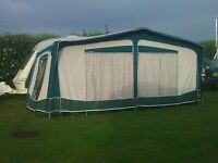 Bradcott Classic Full Caravan Awning Green with Easy-Up Poles