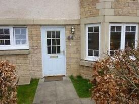 Main door, modern 1 bed flat in Windygoul estate, Tranent