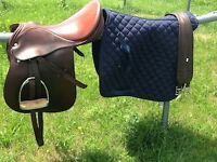 Kieffer English Saddle + Full Shedrow Pad + Thorogood girth