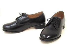 Military Black Shoes Flats