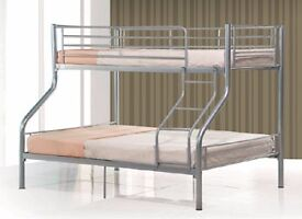 Attractive Design ! BRAND NEW Trio Sleeper Metal Bunk Bed Good Deal with Mattress