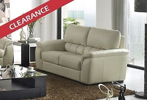 ++Clearance++ Brand New Quality Genuine Leather Loveseat