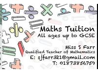 Maths tuition up to GCSE. Monmouthshire. South Powys.