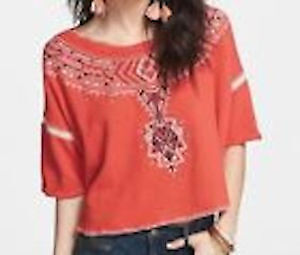 New with tag tag Free People embroidered tribal shirt