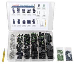 Caspers Electronics 103005 Weatherpack Connector Kit For applications through 19