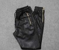 Size 32 men's leather joggers