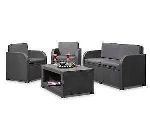 lounge sets f r den garten ebay. Black Bedroom Furniture Sets. Home Design Ideas
