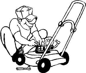 lawnmower oil change & blade sharpening $25