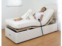 3ft single single size mobility electric adjustable bed hire. Rent per week, month