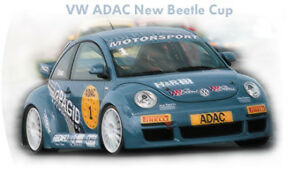 NEW 1:18 die cast 1999 VW  Beatle race car in display case