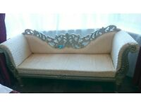 Bespoke Indian Carved_ 3 Piece Suite_Wedding_Home