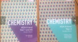 A level Aqa Chemistry textbooks year 1 & 2