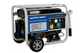 JEFFERSON 5.5KW 13HP PETROL GENERATOR WITH AVR & ELECTRIC START JEFGENPET55EL