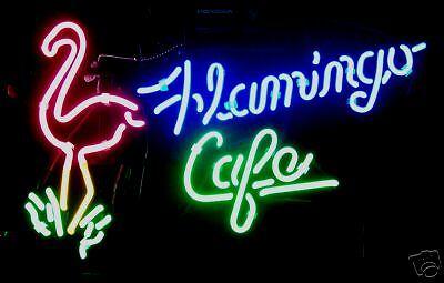 Flamingo Cafe Restaurant Neon Sign