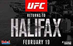 UFC in Halifax. Great seats!