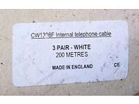 3 Pair White Telco Cable CW1308F