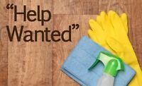 $13.50/hr On call cleaner(busy summer months) great for students