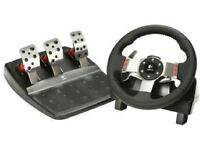 Logitech G27 steering wheel and pedal set for PC and PS3