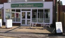 closed restaurant and 2 bed flat above to let Mablethorpe