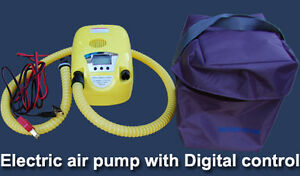 High-Pressure Digital Gauge Electric Air Pump for inflatable boa