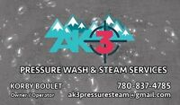 24/7 Mobile pressure wash and steam services. SPECIALS ON NOW!