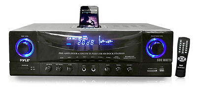 Pyle 500 Watts Stereo Receiver Am-fm Tuner Pt4601aiu