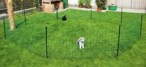Kaninchennetz 25 m grün Einzellspitze Hasenzaun Kaninchen Freigehege Hasen