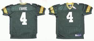 RBK GREEN BAY PACKERS BRETT FAVRE AUTHENTIC HOME JERSEY 60