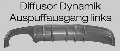 Mercedes CLK W208 Diffusor Dynamik für AMG Ausschnitt links  6 Finnen