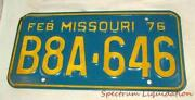 Vintage Missouri License Plate