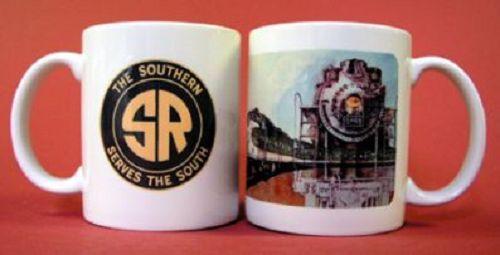 COFFEE MUG - SOUTHERN RAILROAD TRAIN / Collectible Kitchen Tea Cup /