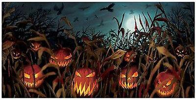 HALLOWEEN party BANNER Scene Setter Field of Screams Jack-o-Lantern  pumpkins (Halloween Party Banners)