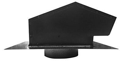 6 In Roof Cap Kit Black Duct Dryer Bathroom Range Hood